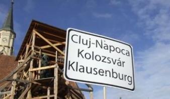 Jogerősen elutasították a kolozsvári kétnyelvű helységnévtáblát