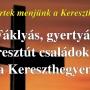 Fáklyás, gyertyás keresztút családokkal a Kereszthegyen