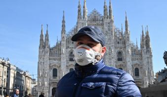 Alig-alig lassul a járvány Olaszországban