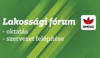 Csütörtök este: RMDSZ lakossági fórum