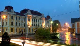 Medve járt Csíkszereda belvárosában