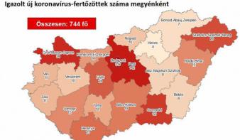 744 az azonosított koronavírus-fertőzöttek száma Magyarországon