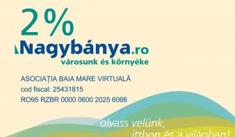 Támogassa jövedelemadója 2%-ával a Nagybánya.ro-t