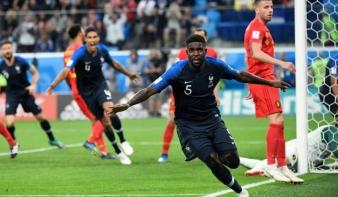 VILÁGBAJNOKSÁG: Franciaország jutott be elsőként a döntőbe az oroszországi labdarúgó-világbajnokságon