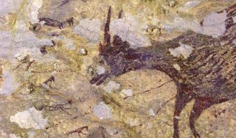 Íme a világ legősibb vadászjelenetét ábrázoló barlangfestmény