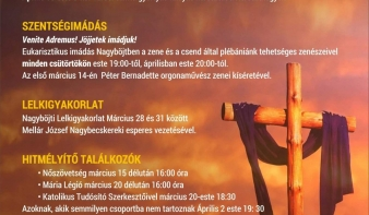 A Szentháromság templom nagyböjti programjai