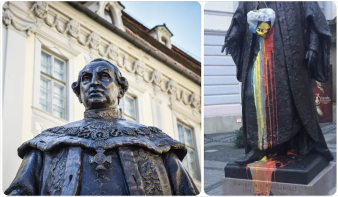 """Az erdélyi szászok legfontosabb történelmi alakjának szobrát sem kíméli a román """"tolerancia"""""""