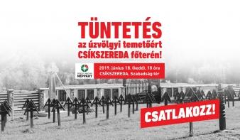 Csíkszeredában tüntetnek kedden az úzvölgyi temetőért