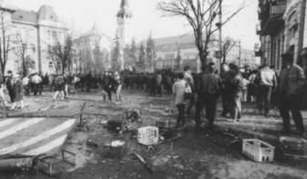 Marosvásárhely fekete márciusára emlékeznek