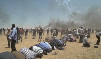 Gáza: 58 palesztin tüntető halt meg, Franciaország és Anglia elítéli az izraeli fellépést