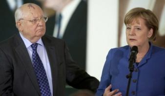 Merkel nem ért egyet Gorbacsovval Ukrajna ügyében
