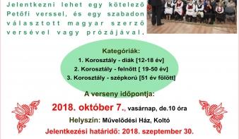 5. Petőfi-szavalóverseny - Koltó