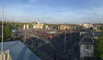 Ismét tüntetés volt Budapesten