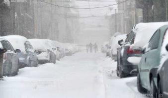 Sárga riasztást adtak ki havazás és hóviharok miatt tizenkét megyében
