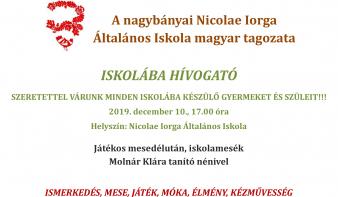 Nyílt nap a Nicolae Iorga Általános Iskolában