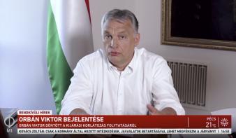 Orbán Viktor: Határozatlan időre meghosszabbítjuk a kijárási korlátozást