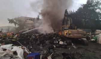 Jókora tűz indította a hetet Zilahon
