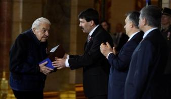 Kossuth Nagydíjat vett át Budapesten Kallós Zoltán