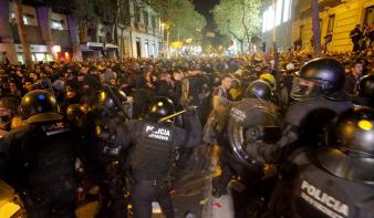 Eldurvultak a tüntetések Katalóniában