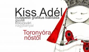 Kiss Adél budapesti grafikus kiállítása Nagybányán