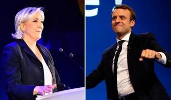 Emmanuel Macron és Marine Le Pen fej-fej mellett