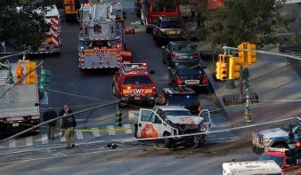Terrortámadás New Yorkban: nyolc halott, sok sérült