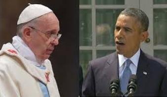 A háborúról és az éhezésről is beszélget Obama Ferenc pápával
