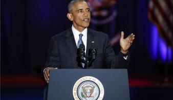 Könnyek közepette búcsúzott Obama