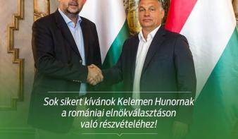 Orbán Viktor sok sikert kíván Kelemen Hunornak