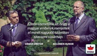 Május 25-én minél nagyobb számban menjünk el szavazni! – Kelemen Hunor és Orbán Viktor üzenete a magyarokhoz