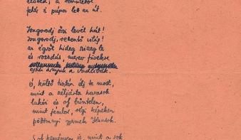 Radnóti Miklós eddig ismeretlen verssorát fedték fel a hagyatékkezelők