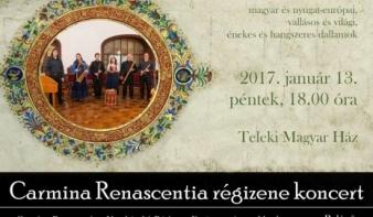 MA: Carmina Renascentia régizene koncert