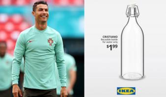 Vvizesüveget nevezett el Ronaldóról az Ikea