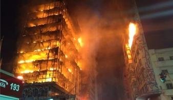 Kigyulladt és összedőlt egy 26 emeletes épület Sao Paulóban