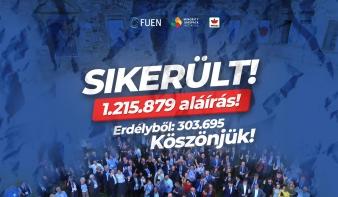 Siker a Minority SafePack; Romániában több mint 303 ezer aláírást sikerült összegyűjteni