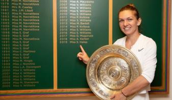 Simona Halep elsöprő győzelmet aratott a Wimbledoni tornán