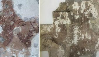 Páratlan freskó bukkant elő a lánymentő Szent Lászlóról Marosvásárhelyen