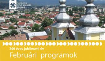 300 éves jubileumi év februári programjai
