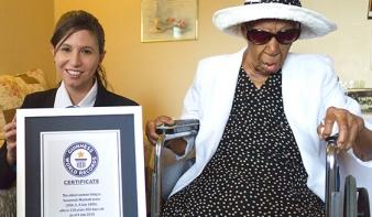 Száztizenhat éves lett a világ legidősebb embere