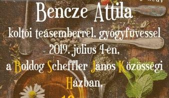Közös teázás Bencze Attila, koltói teásemberrel