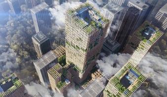 Fából épül 70 emeletes felhőkarcoló Tokióban