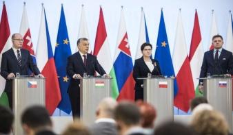 Orbán a V4-csúcson: közeledünk az ésszerű migrációs politikához