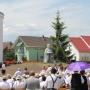 Szent István-szobrot és teret avattak Gyergyóban