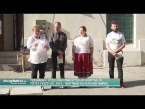Tersánszky Józsi Jenő emléktába-avatás